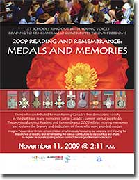 Reading and Remembrance 2009 poster
